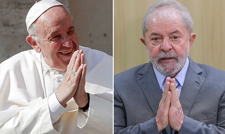 Papa Francisco envia carta a Lula