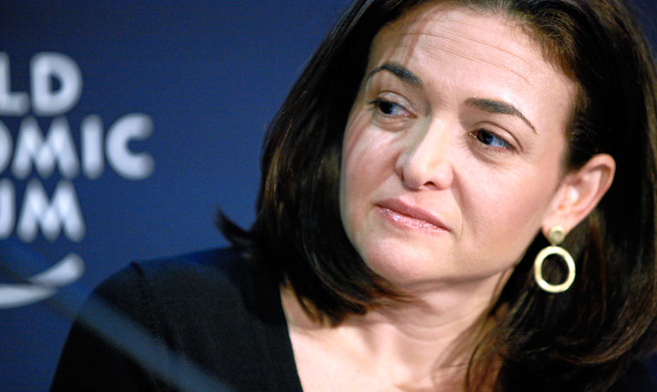 Sheryl Sandberg, diretora de operações do Facebook, autora do best-seller