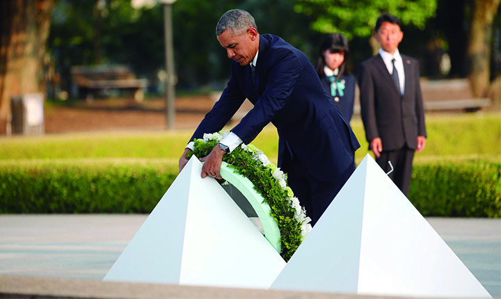 Em Hiroshima, Obama defende política antinuclear